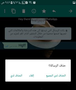 حذف الرسائل في الواتس اب بلس الذهبي